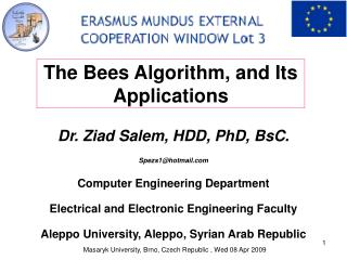 Dr. Ziad Salem, HDD, PhD, BsC. Spezs1@hotmail Computer Engineering Department Electrical and Electronic Engineering Facu
