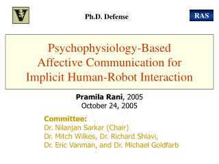 Psychophysiology-Based  Affective Communication for  Implicit Human-Robot Interaction