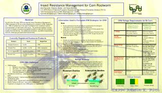 Insect Resistance Management for Corn Rootworm Alan Reynolds, Sharlene Matten, and Tessa Milofsky
