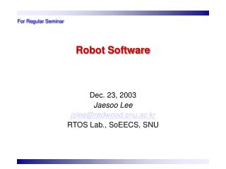 Robot Software