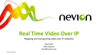Real Time Video Over IP