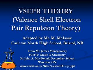 VSEPR THEORY  (Valence Shell Electron Pair Repulsion Theory)
