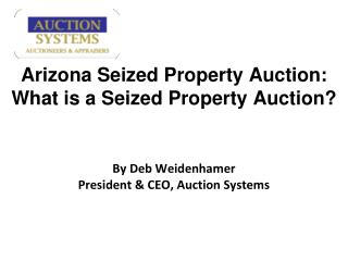 Auction Systems - Arizona Seized Property Auction