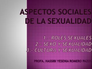 ROLES SEXUALES