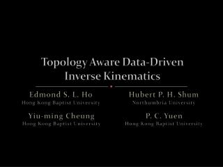 Topology Aware Data-Driven  Inverse Kinematics