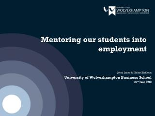 Mentoring our students into employment