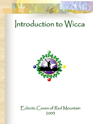 Introduction to Wicca