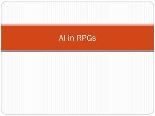 AI in RPGs