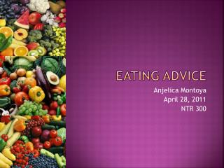 Eating Advice