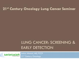 Lung cancer: Screening & early detection