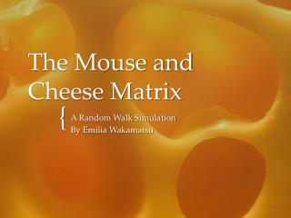 The Mouse and Cheese Matrix