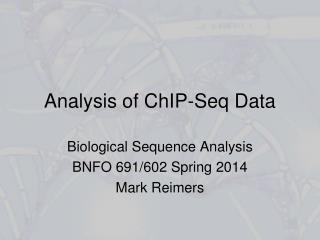 Analysis of ChIP-Seq Data