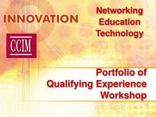 Portfolio of Qualifying Experience Workshop