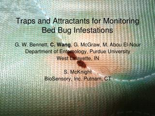 Traps and Attractants for Monitoring Bed Bug Infestations
