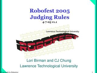 Robofest 2005  Judging Rules 4-7-05 v1.1