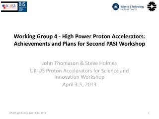 Working Group 4 - High Power Proton Accelerators: Achievements and Plans for Second PASI Workshop