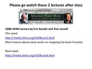 Please go watch these 2 lectures after class