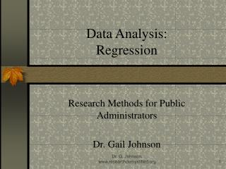 Data Analysis:  Regression