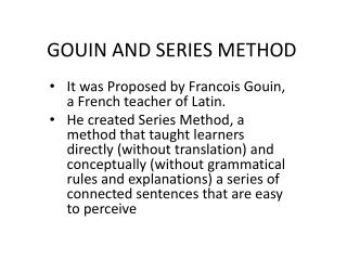 GOUIN AND SERIES METHOD