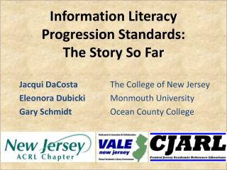 Information Literacy Progression Standards:  The Story So Far