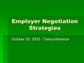 Employer Negotiation Strategies