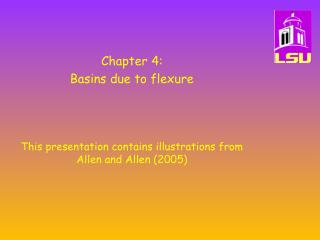 Chapter 4:   Basins due to flexure