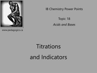 Titrations  and Indicators