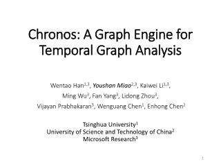 Chronos: A Graph Engine for Temporal Graph Analysis