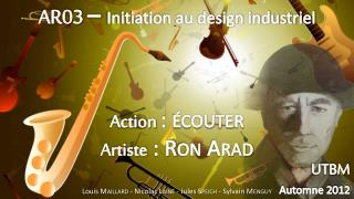 AR03  –  Initiation au design industriel