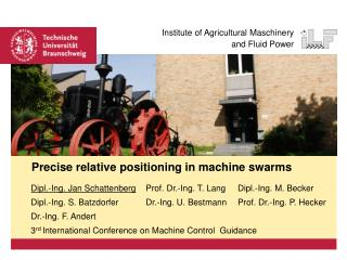 Precise relative positioning in machine swarms