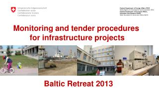 Monitoring  and tender procedures  for infrastructure  projects