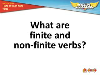 What are finite and  non-finite verbs?