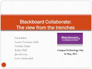 Blackboard Collaborate:  The view from the trenches