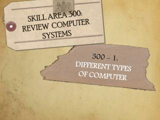 300  - 1:  DIFFERENT TYPES  O F COMPUTER