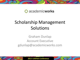 Scholarship Management Solutions