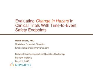 Evaluating  Change in Hazard  in  Clinical  Trials With Time-to-Event Safety  Endpoints