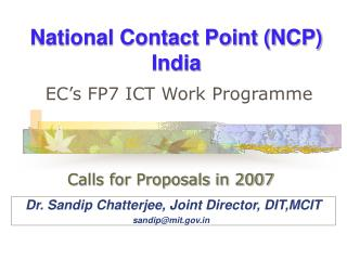 National Contact Point (NCP) India