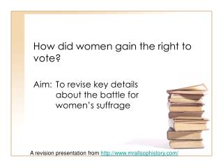 How did women gain the right to vote?