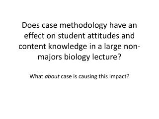 Why Case Method?