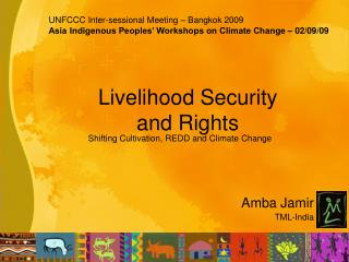 Livelihood Security and Rights