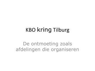 KBO kring Tilburg