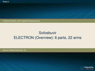 Sofosbuvir ELECTRON (Overview): 6 parts, 22 arms