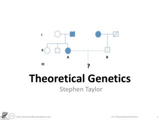 Theoretical Genetics
