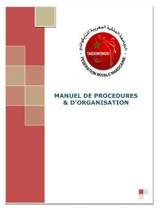 MANUEL DE PROCEDURES  & D'ORGANISATION