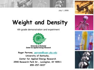 Weight and Density