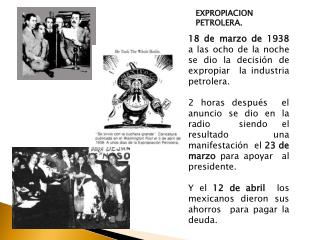 EXPROPIACION PETROLERA.