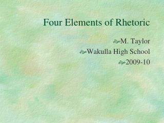 Four Elements of Rhetoric