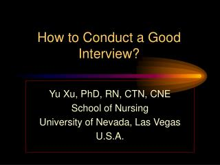 How to Conduct a Good Interview?