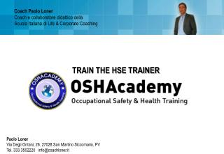 TRAIN THE HSE TRAINER