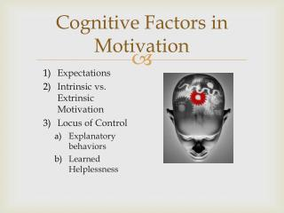 Cognitive Factors in Motivation